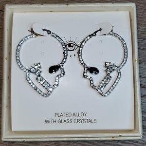 Eye Candy LA Skull Head Earrings